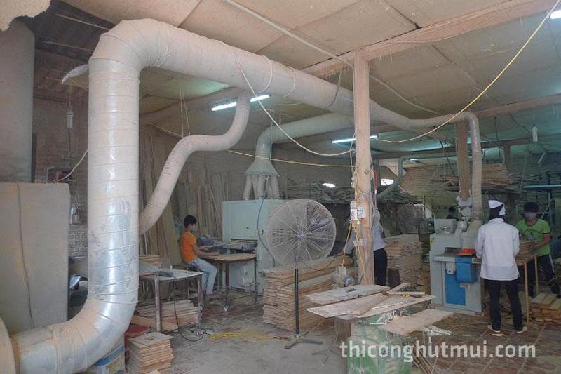 thi công hệ thống hút mùi nhà xưởng