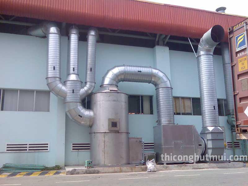 hệ thống hút khói nhà xưởng