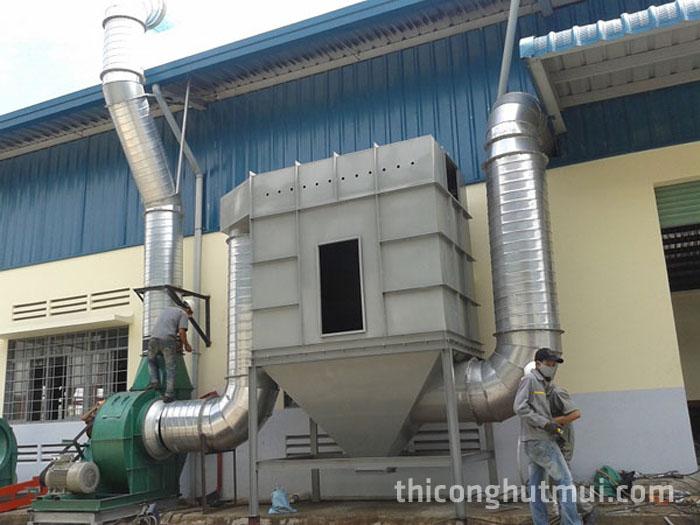 Lắp đặt thi công hệ thống hút khói bụi trong sản xuất
