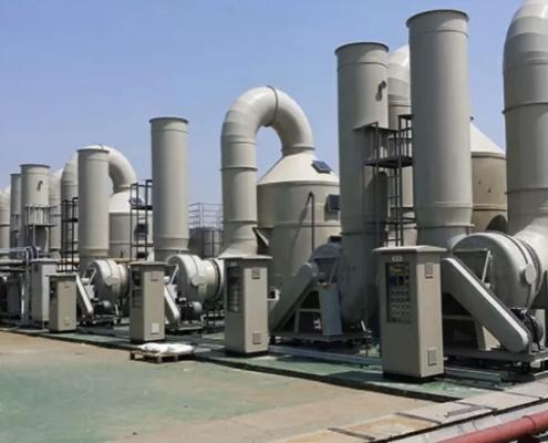 Công trình tháp xử lý khói bụi